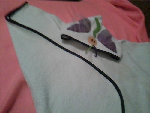 toallon -ponchito de toalla.c/capucha talle 2