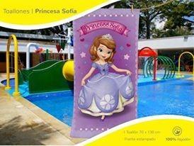 toallon  princesita sofia original piñata almacén sonrisas