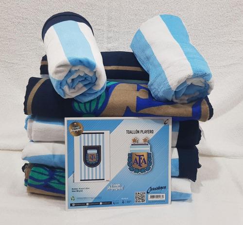 toallón selección argentina afa futbol algodón combo x3