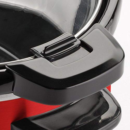 toastmaster tm-402scrd slow cooker, 4 quart, rojo