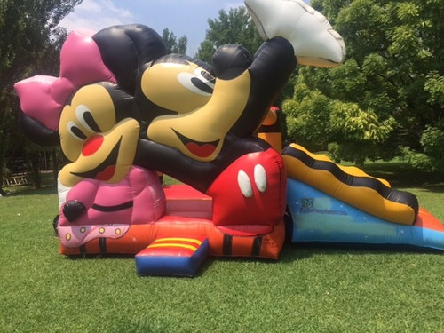 tobagan con pileta, tobogan doble inflable mickey y minnie