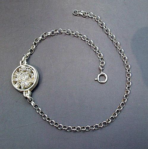 tobillera 25cm ajustable tetragramaton protección plata ley