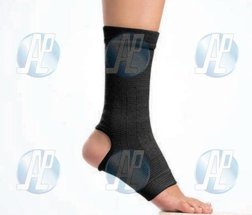 tobillera ortopedica elastica negra cerrada  por unidad
