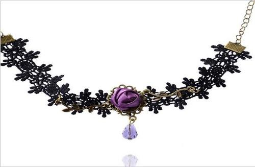 tobillera pendant mujer pulsera pie encaje floral vintage