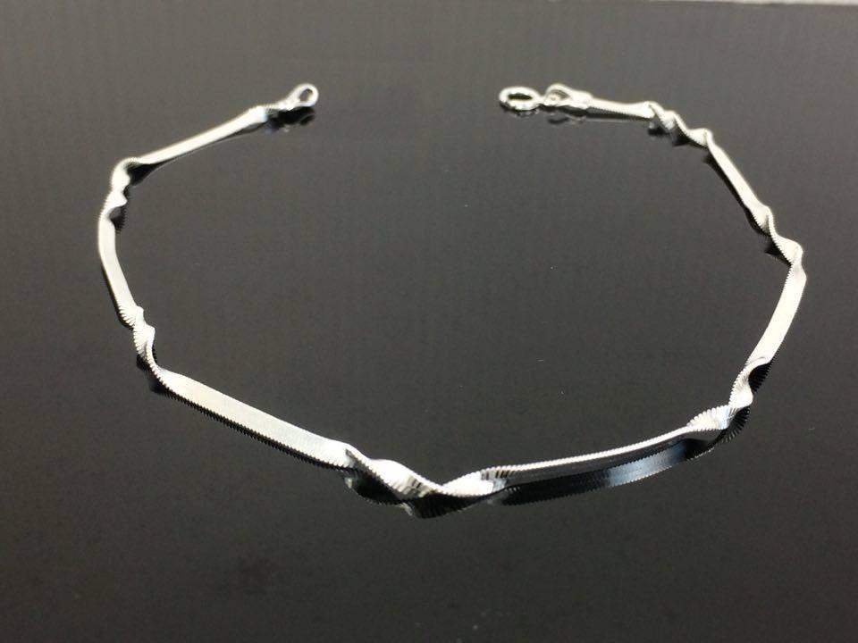 703c11e17f09 tobillera pulsera para pies plata tejido super flex ad5700. Cargando zoom.