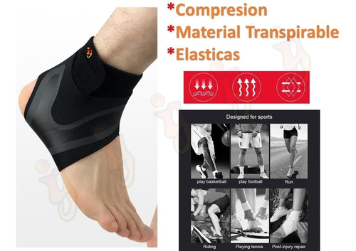 tobillera slim 2 pzas soporte deporte lesion rehabilitacion