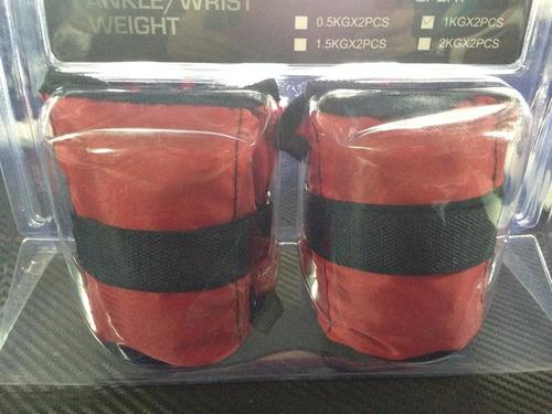 tobilleras muñequeras 2 kilos pesas gimnasios 1 kilo c/u