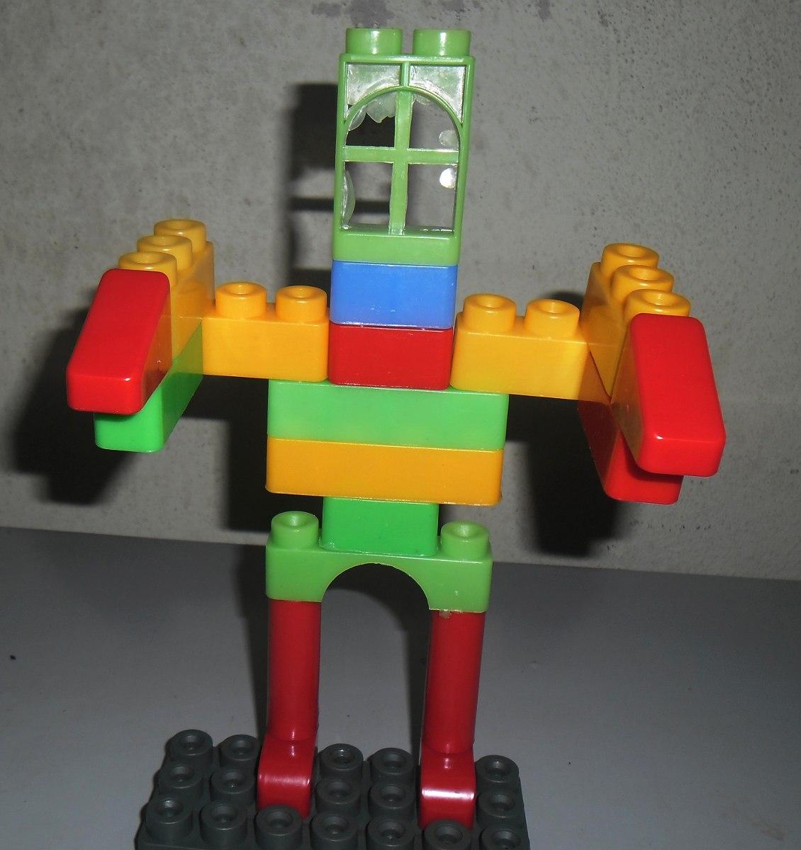 Tobo de legos super taco de 53 piezas grandes armar jugar - Piezas lego gigantes ...