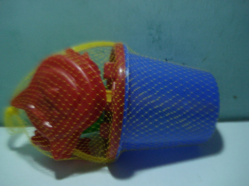 tobo playero plastico grandes mas 5 piezas incorporadas