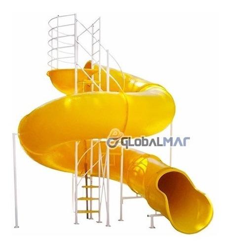 toboágua 13 metros amarelo curvo grande clube aquático