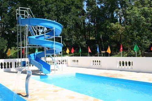 toboágua c/ 19 metros para piscina parque aquático pista