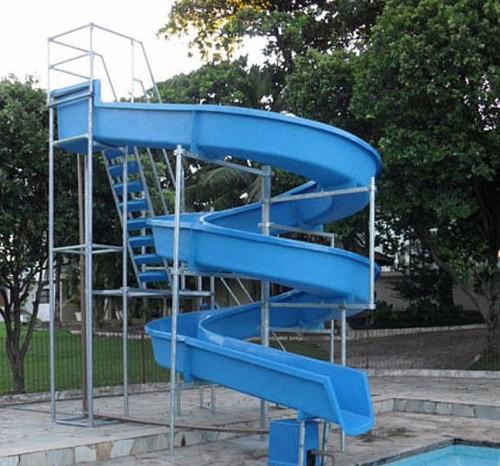 toboágua c/ 19 metros pista para piscina parque aquático