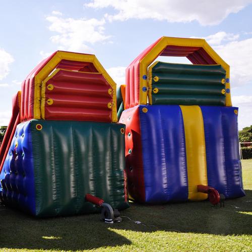 tobogã inflável grande 8m x 4,20m x 6,50m - frete grátis