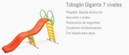tobogan 6 escalones 7 niveles gigante c/conexion agua vegui
