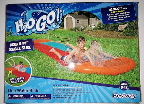 tobogán acuático bestway h2ogo: doble con rampa de velocidad