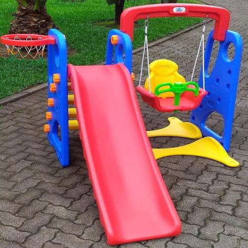 tobogan + hamaca + aro de basket - juegos infantiles - niños