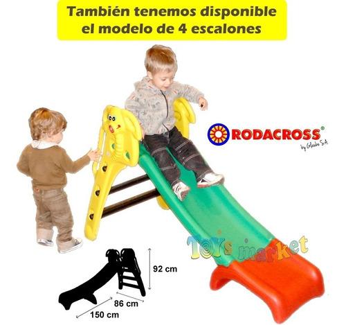 tobogan infantil plastico de 3 escalones plegable rodacross
