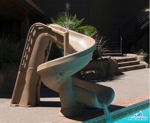 tobogan juegos piscina helix 2,24 m piscineria