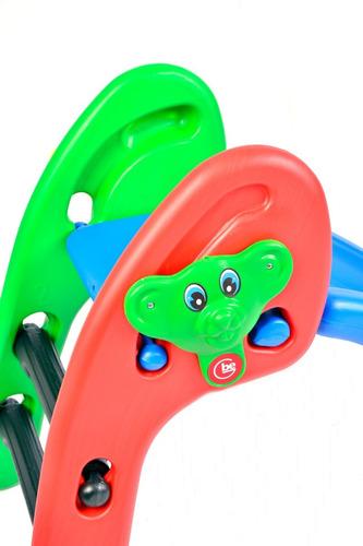 tobogan junior 2 escalones 3 niveles de altura para niños