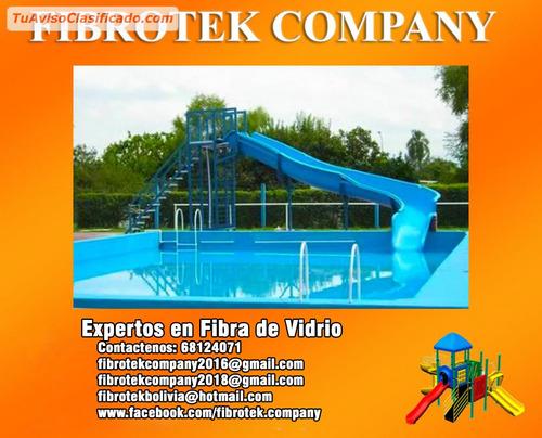 toboganes acuáticos para balnearios fabricados en fibra de v