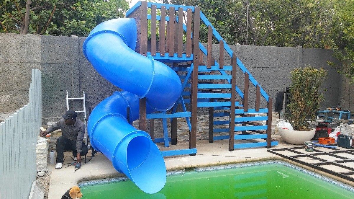 Toboganes para piscinas marca madeplas en for Toboganes de piscina