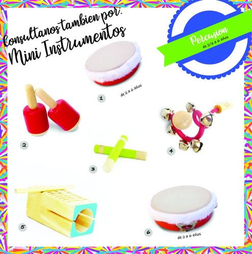toc-toc didáctico de madera juguete infantil instrumento