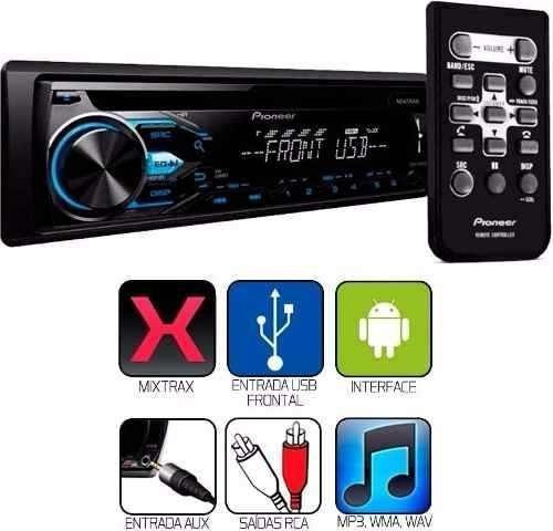 toca cd pioneer com usb x-1950 mixtrax