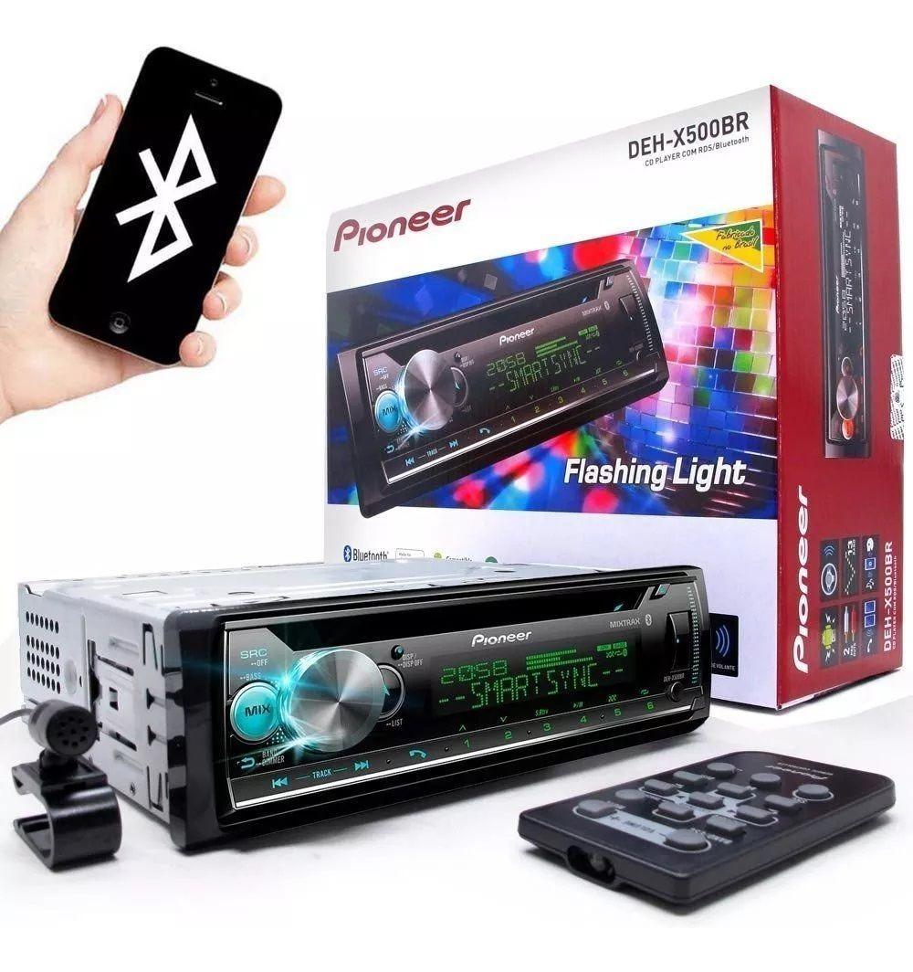 Toca Cd Pioneer Deh-x500br Bluetooth Smart Sync Usb Spotify