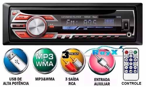 toca cd player mp3 usb/sd/aux rayx similar pioneer /positron