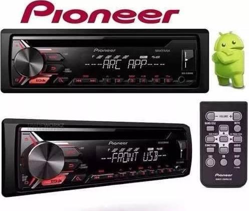 toca cd player pioneer deh-x1950ub usb / mp3 + pen drive 8gb