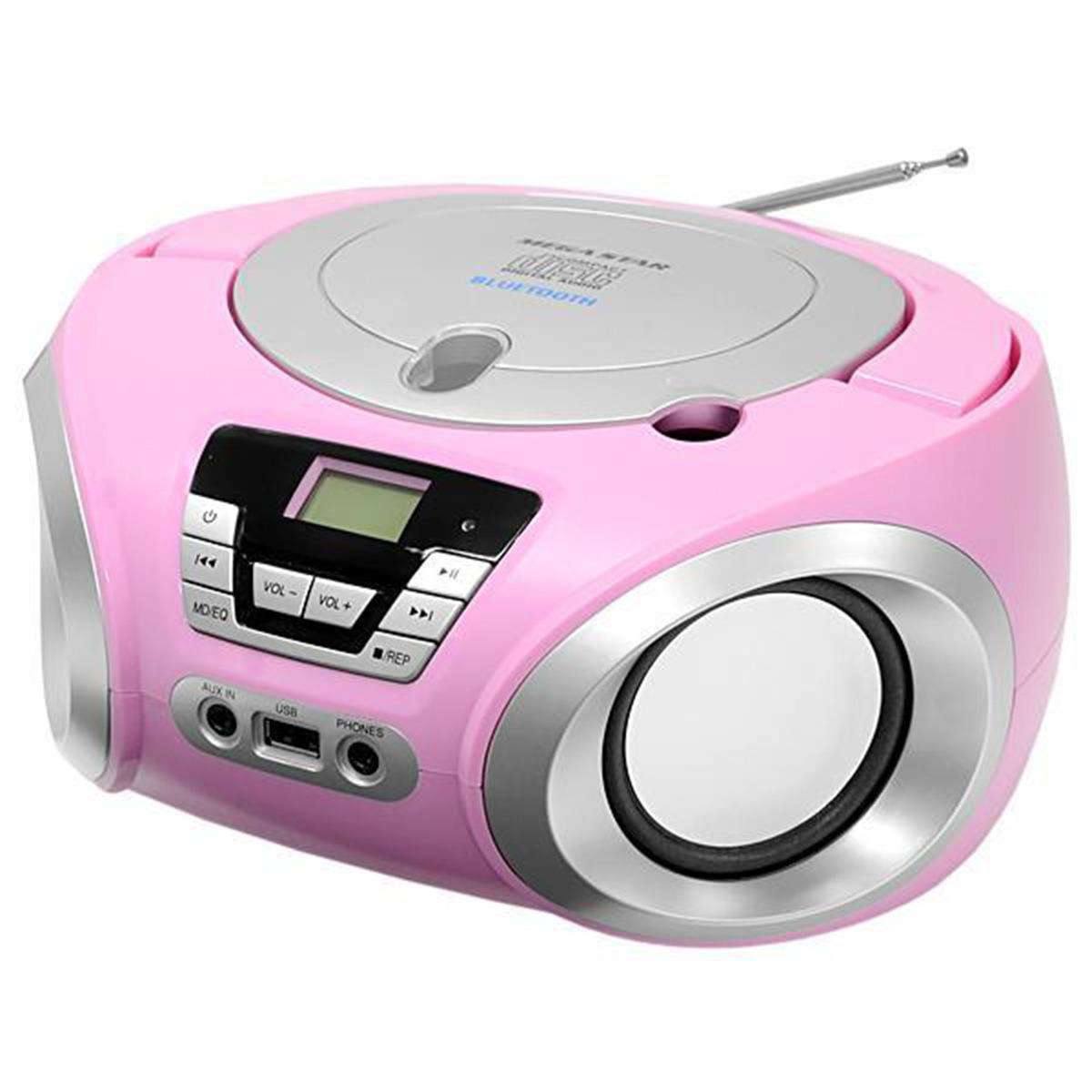 Toca Cd Player Rádio Bluetooth/usb/cd/fm Bivolt Pilha Bivolt