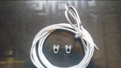 toca de cabo de aço para portão