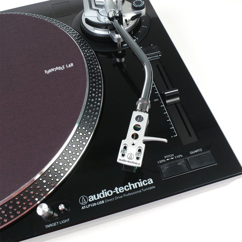 toca disco audio-technica lp120 usb bivolt preto