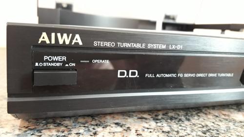 toca discos aiwa lx-d1 tangencial - direct drive - japonês