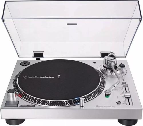 toca discos audio technica at- lp 120x usb/ prata/bivolt