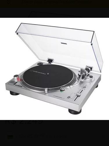 toca discos audio technica lp120x usb/prata/bivolts/promoção