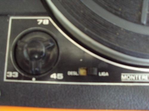 toca discos com rádio am-fm belair - cor vermelha