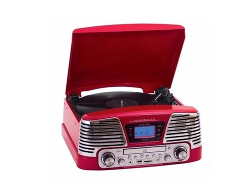 toca discos de vinil retrô fm cd usb sd bivolt harmony