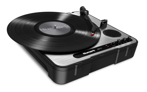toca discos lp vinil numark pt01 usb portatil turntable