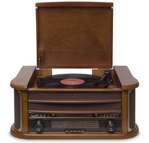 toca discos raveo opera bivolt madeira com bluetooth usb