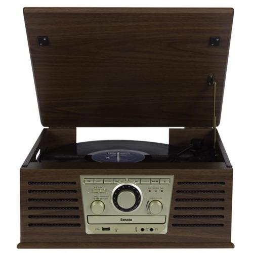 toca discos raveo sonata bivolt madeira conexão bluetooth