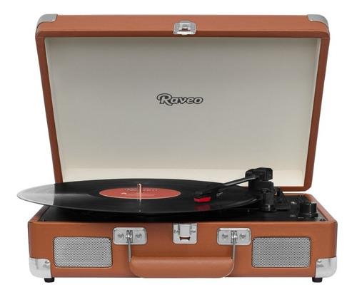 toca discos raveo sonetto chrome usb, bluetooth - maleta