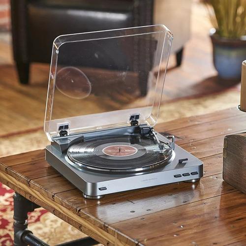 toca discos stereo auto audio technica at lp60 usb+fonte110v