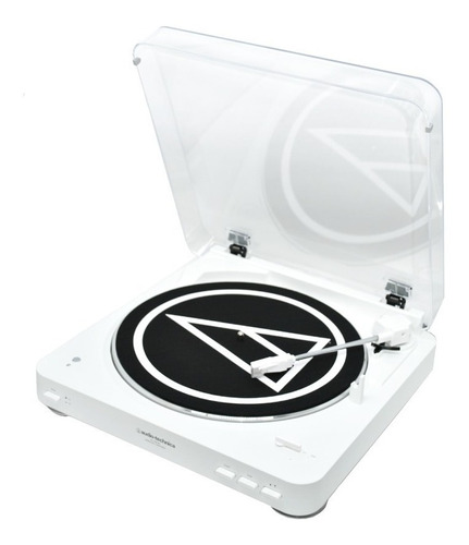 toca discos stereo bluetooth audio technica at lp60 wh bt