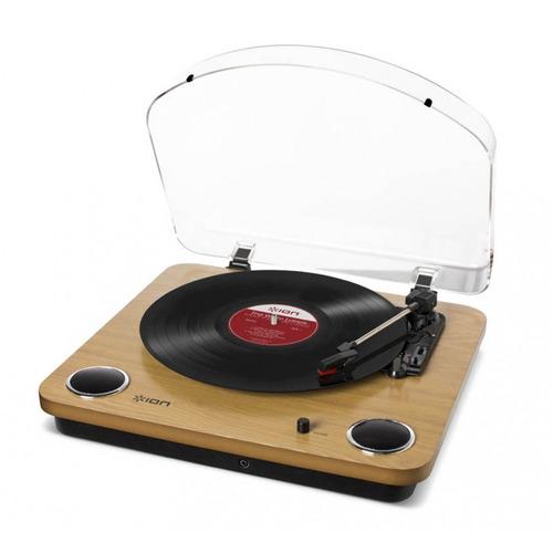 toca-discos vinil c/ falantes, tampa e conversor ion maxlp