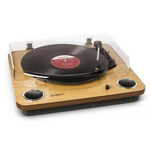 toca-discos vinil com alto-falantes, tampa protetora e co