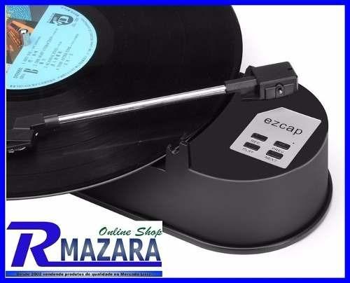 toca discos vinil player usb sd rca conversor disco vinil
