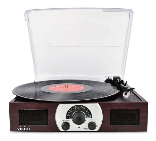 toca discos vinil vitrola retrô fm usb sd bivolt bluetooth
