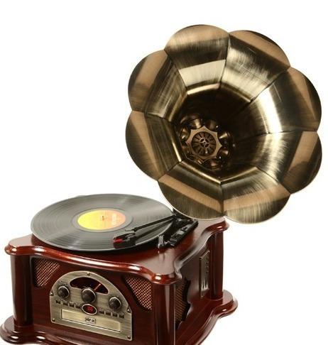 toca discos vitrola gramophone texas usb, mp3, cd, rádio