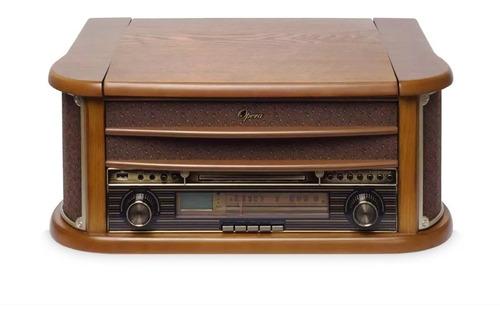 toca discos vitrola opera bluetooth gravação k7 raveo